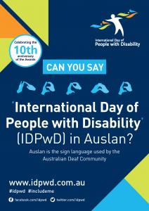 IDPwD Auslan Poster 2