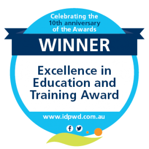 Winner - Excellence in Education and Training Award