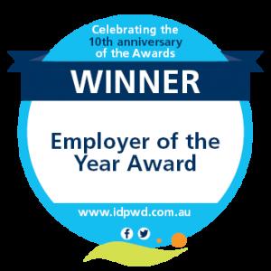 Winner - Employer of the Year Award