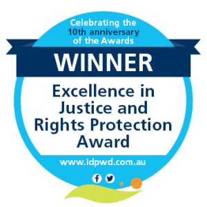 Winner - Excellence in Justice and Rights Protection Award