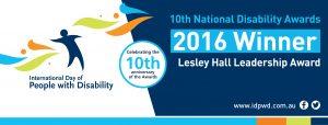 Winner - Lesley Hall Leadership Award banner