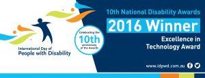 Winner - Excellence in Technology Award banner
