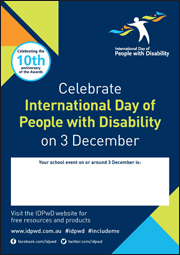 IDPwD Schools Fillable Poster
