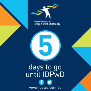 IDPwD social media five day countdown icon