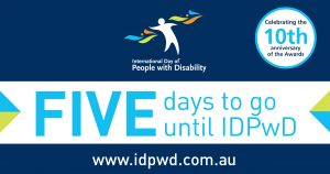 IDPwD social media five day countdown banner
