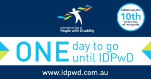 IDPwD social media one day countdown banner