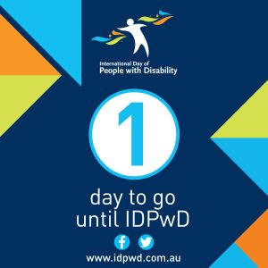 IDPwD social media one day countdown icon