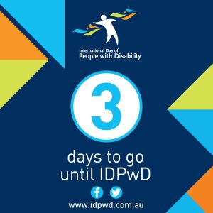 IDPwD social media three day countdown icon