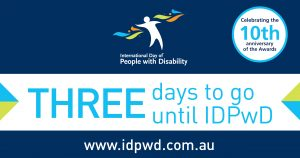 IDPwD social media three day countdown banner