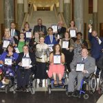 Assistant Minister Prentice with the 10th National Disability Award Winners