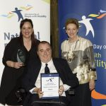 excellence in inclusive service delivery award joint winner nightlife disability services and assistant minister prentice