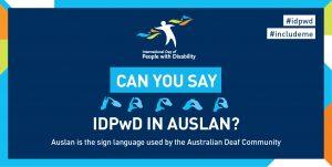 IDPwD Auslan social media banner 2