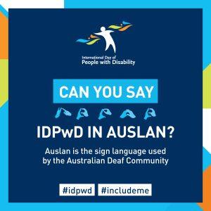 IDPwD Auslan social media icon 2