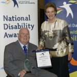 lesley hall leadership award winner maurice corcoran and assistant minister prentice