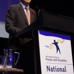 Prime Minister Malcolm Turnbull presenting the Excellence in Technology Award
