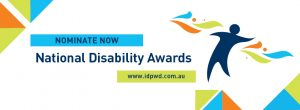 Promotional Facebook banner for the 2017 National Disability Awards