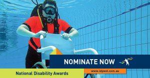 Promotional social media tile for the 2017 National Disability Awards
