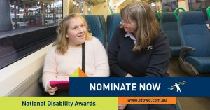 Promotional social media tile for the 2017 National Disability Awards