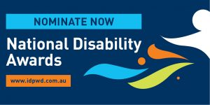 Promotional Twitter banner for the 2017 National Disability Awards