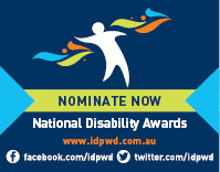 Promotional website button for the 2017 National Disability Awards