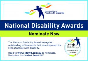 Promotional eCard for the 2017 National Disability Awards