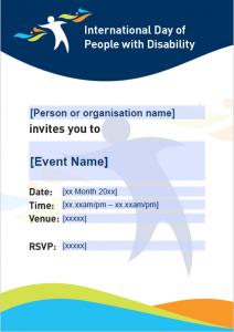 Editable Event Invitation