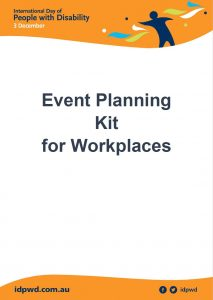 Event planning kit for workplaces