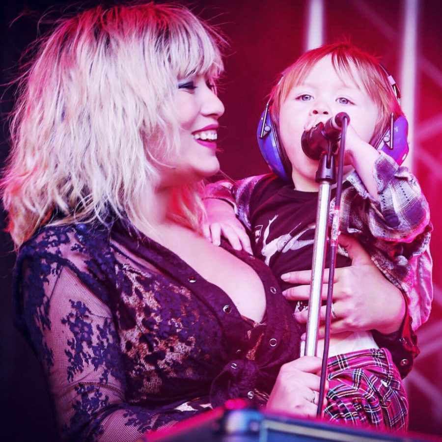 Elly-May Barnes with her six year old son Dylan