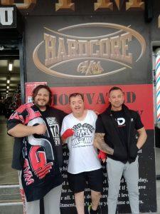 Jason with trainer Ali and friend Waza